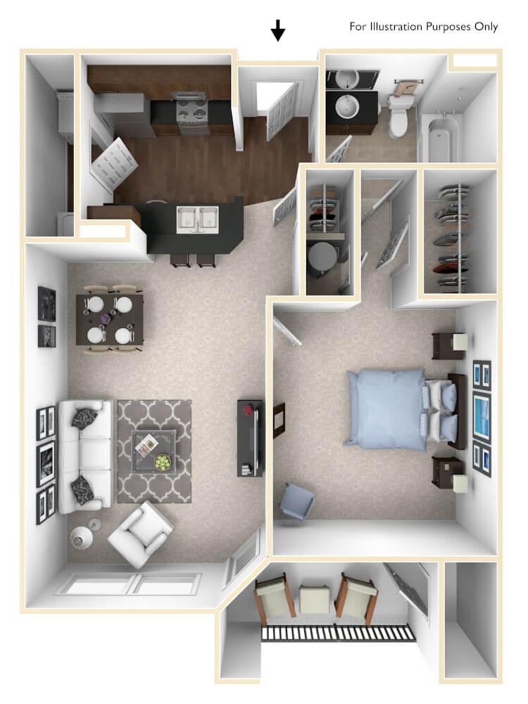 Bayou Floor Plan at The Regent