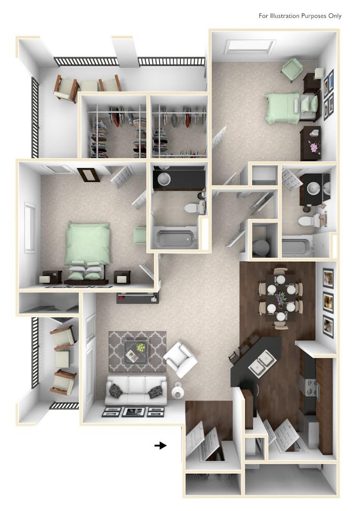 Natchez Floor Plan at The Regent