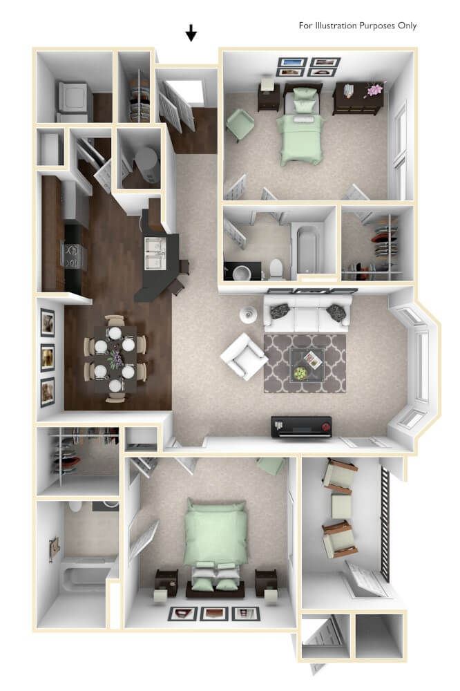 Orleans Floor Plan at The Regent
