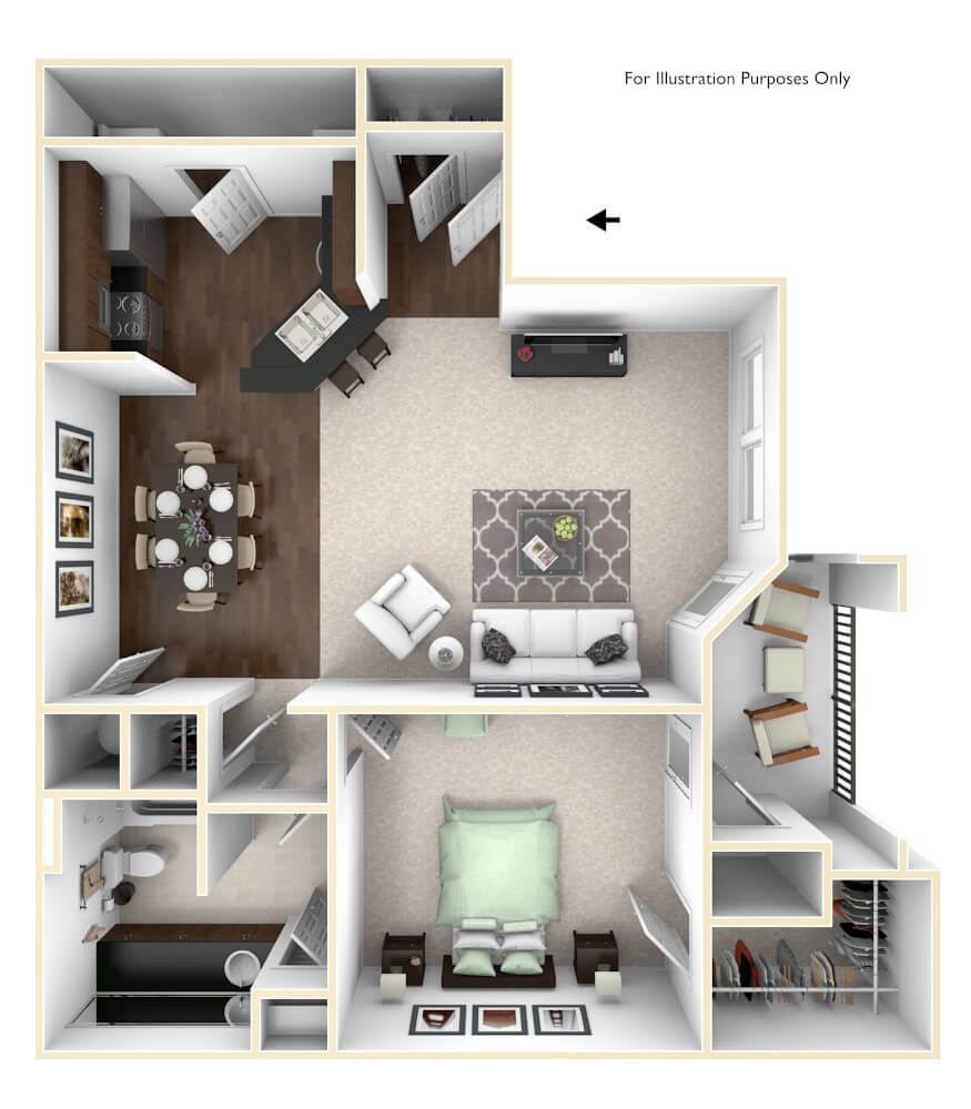 The Rouge Floor Plan at The Regent